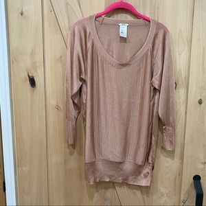 Wolford Pink Champagne Blouse Top Size Large